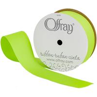 Grosgrain Ribbon 1-1/2X10yd-New Chartreuse
