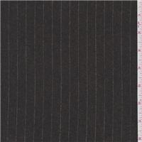 *2 1/4 YD PC--Chestnut Brown Stripe Flannel Suiting