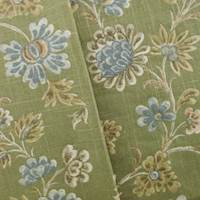 Designer Green Floral Cotton Print Decorating Fabric