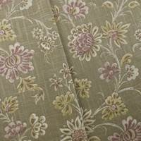 Designer Floral Cotton Print Brown Decorating Fabric
