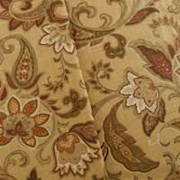 Designer Beige/Multi Paisley Print Home Decorating Fabric