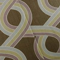 Designer Cotton Multicolor/Brown Ogee Print Home Decorating Fabric