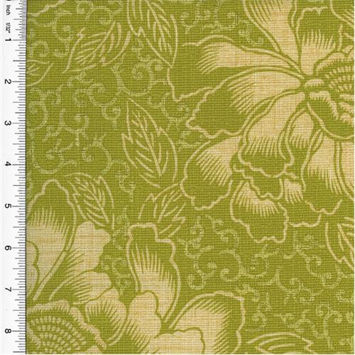 Waverly Boho Batik Floral Print Green Home Decorating