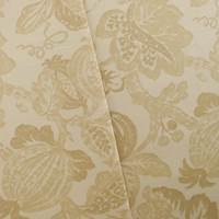 Designer Cotton Frutta Print Beige Home Decorating Fabric