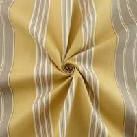Designer Cotton Beige/Gray Balanced Stripe Print Home Decorating Fabric