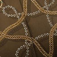 Designer Cotton Brown Chain Reaction Print Home Decorating Fabric