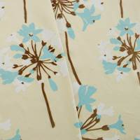 Designer Turquoise/Brown Floral Print Decorating Fabric