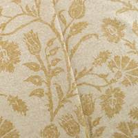 Linen/Cotton Beige Carnation Floral Print Home Decorating Fabric