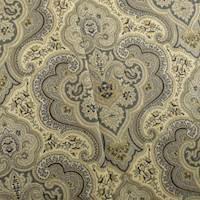 Designer Cotton Beige/Black Paisley Print Decorating Fabric