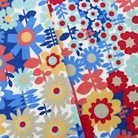 Designer Cotton Get Happy Multicolor Floral Print Home Decorating Fabric