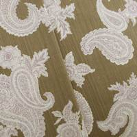 Designer Cotton Brown/Beige Paisley Print Home Decorating Fabric