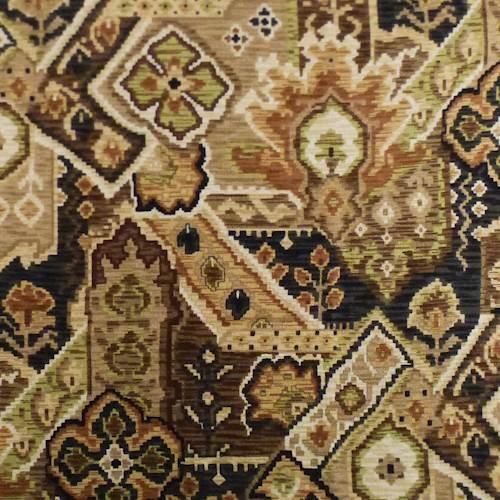 Designer Cotton Brown Beige Inca Floral Print Home