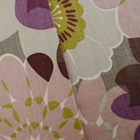 Designer Cotton Pink/Gray Floral Print Decorating Fabric