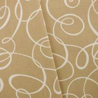 Designer Cotton Loop Beige Print Home Decorating Fabric