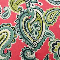 Designer Cotton Pink/Multi Paisley Print  Decorating Fabric