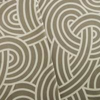 Cotton Winding Taupe Brown Print Home Decorating Fabric