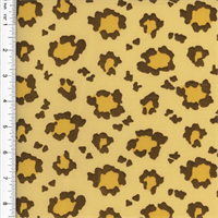 Designer Cotton Beige/Brown Leopard Print Decorating Fabric