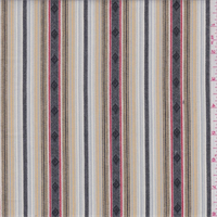 White Multi Stripe Cotton Ikat