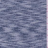Grey/Blue Metallic Sweater Knit