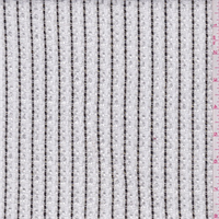 White/Black Stripe Boucle Suiting