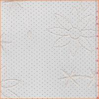Ecru Embroidered Floral Stretch Mesh