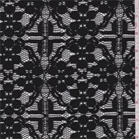 Black Floral Diamond Lace