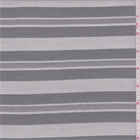 Silver/Grey Organza Stripe