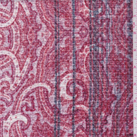Red/Pink Scroll Boucle