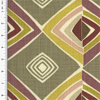 Designer Cotton Gray Multicolor Diamond Print Home Decorating Fabric