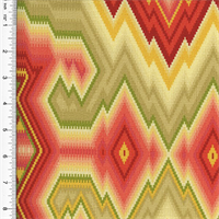 Designer Cotton Multicolor Diamond Maze Print Home Decorating Fabric