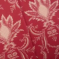 Designer Cotton Red/IvoryFleur Print Decorating Fabric