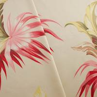 Designer Cotton Multi Serenity Palm Print  Decorating Fabric