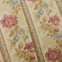 Designer Cotton Multi Stripe Floral Print Decorating Fabric