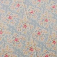Designer Cotton Blue/Pink Floral Print Decorating Fabric
