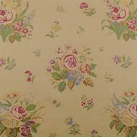 Designer Cotton Beige Multi Floral Print Decorating Fabric