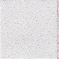 *1 5/8 YD PC--White Floral Lace