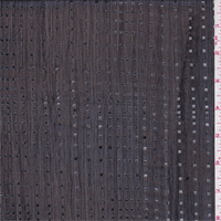 Black/Silver Foil Cube Crinkled Chiffon
