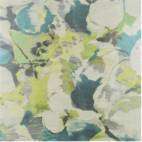 Gray/Teal Floral Jacquard Teal Home Decorating Fabric