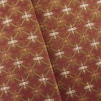 Jacquard Foulard Red Home Decorating Fabric