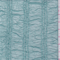 Seafoam Blue Embroidered Stretch Mesh