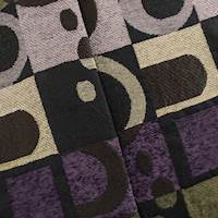 Brown/Purple Geometric Chenille Jacquard Home Decorating Fabric
