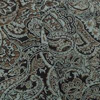 Teal/Brown Paisley Jacquard Home Decorating Fabric