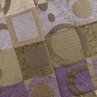 Brown/Purple Chenille Geometric Jacquard Home Decorating Fabric