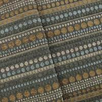 Blue/Brown Dotted Stripe Chenille Home Decorating Fabric