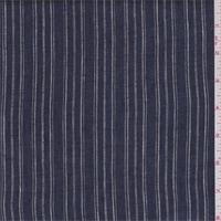 *1 3/8 YD PC--Blue/White Stripe Linen