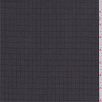 Charcoal Grey Check Wool Suiting
