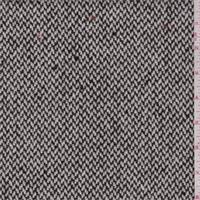 Walnut Brown/Ivory Herringbone Wool Coating