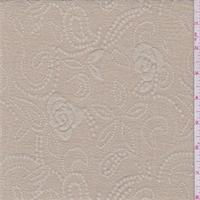 *3 1/2 YD PC--Sand Beige Floral Jacquard Knit