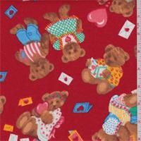Red Multi Bear Print Flannel