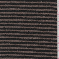 Taupe/Black Stripe Boucle Suiting
